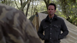 "Walton Goggins as ""Boyd Crowder"""