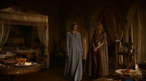 Queen Cersei Lannister and Sansa Stark