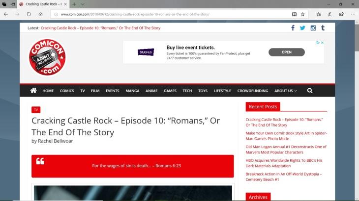 Castle Rock   Rachel's Media Channel